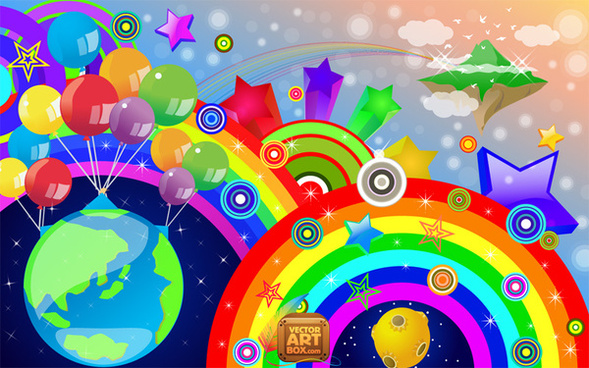 589x368 Free Rainbow Vector Png Images, Backgrounds And Vectors For Free