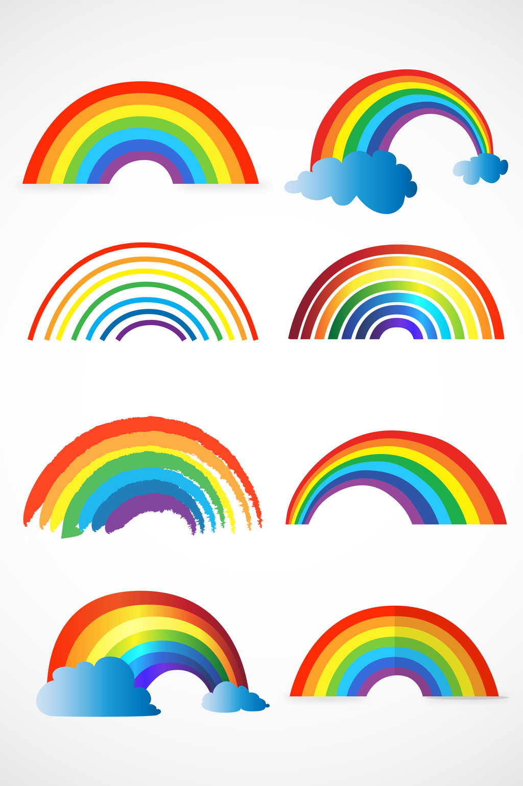 1024x1540 Rainbow Vector] Png Images,vector And Psd Free Download