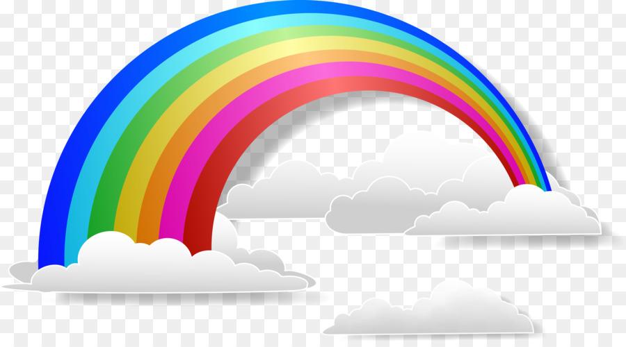 900x500 Rainbow Cloud Iridescence Euclidean Vector