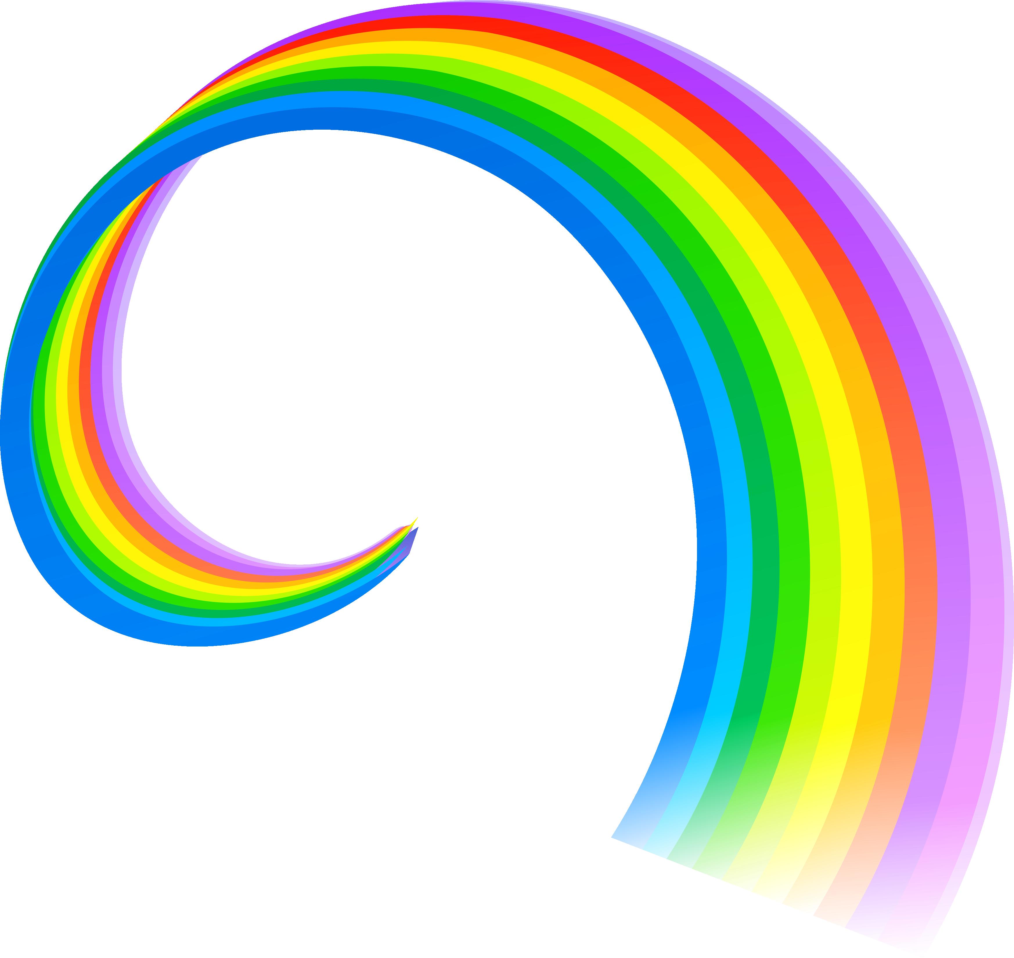 3493x3303 Rainbow And Sun Vector Transparent Stock Large