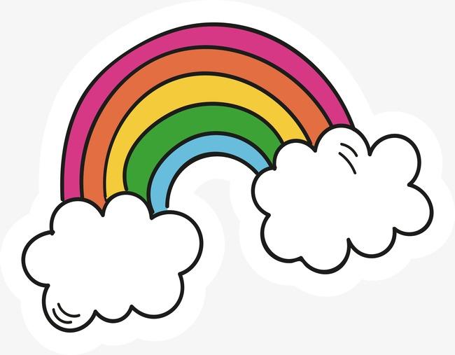 650x507 Cartoon Rainbow Vector, Cartoon Vector, Rainbow Vector, Rainbow