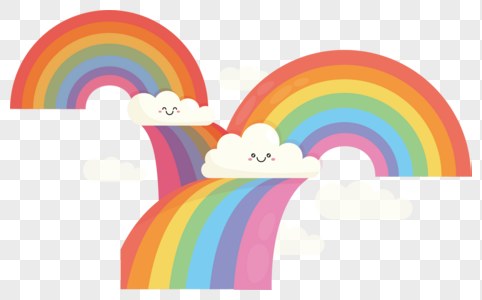 482x300 Cartoon Rainbow Vector Graphics Image Picture Free Download
