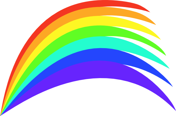 600x395 Collection Of Free Rainbow Vector Outline. Download On Ubisafe