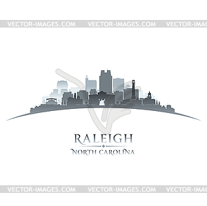 300x299 Raleigh North Carolina City Silhouette White