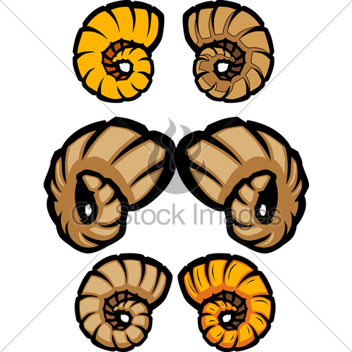 500x500 Collection Of Ram Horns Vector Illustrations Gl Stock Images