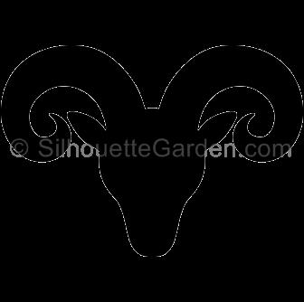 Ram Head Vector