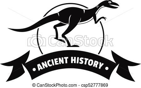 450x283 Jurassic Raptor Logo, Simple Black Style. Jurassic Raptor Logo