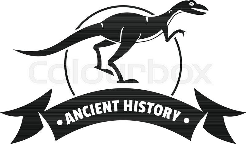 800x469 Jurassic Raptor Logo. Simple Illustration Of Jurassic Raptor