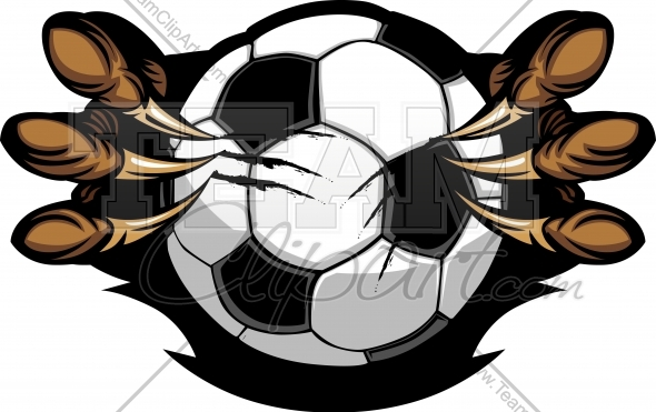590x371 Raptor Soccer Clipart Image. Easy To Edit Vector Format.