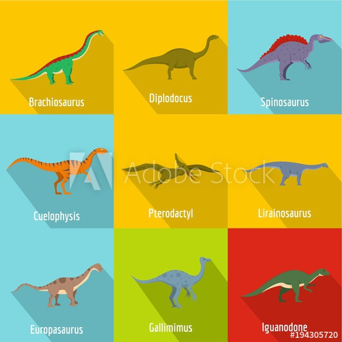 500x500 Raptor Icons Set. Flat Set Of 9 Raptor Vector Icons For Web