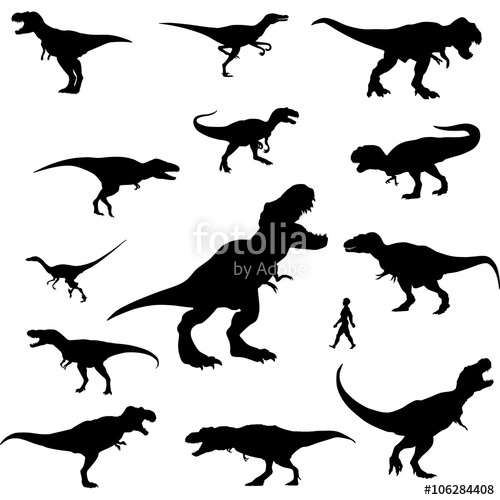 500x500 Raptor Silhouette Clipart Stock Image And Royalty Free Vector