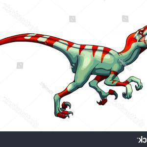300x300 Cartoon Raptor Vector Illustration Dinosaur Eps Sohadacouri