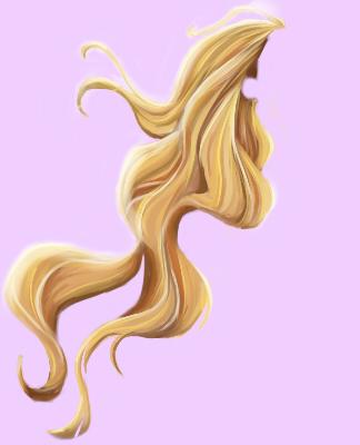 324x400 Long Hair Clipart Rapunzel 3681141