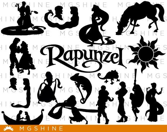 570x450 Rapunzel Svg For Cricut Silhouette Rapunzel Silhouette Etsy