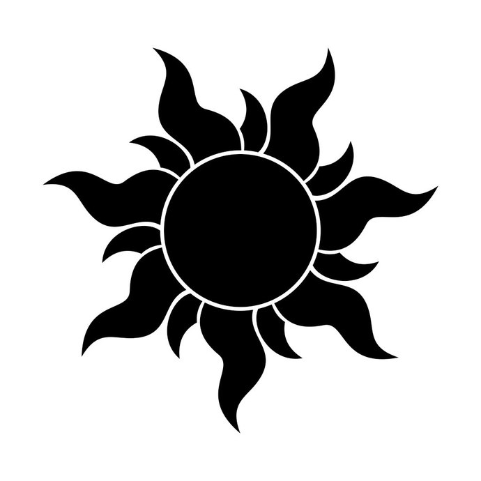 690x690 Tangled Rapunzel Sun Graphics Design Svg Dxf By Vectordesign On Zibbet