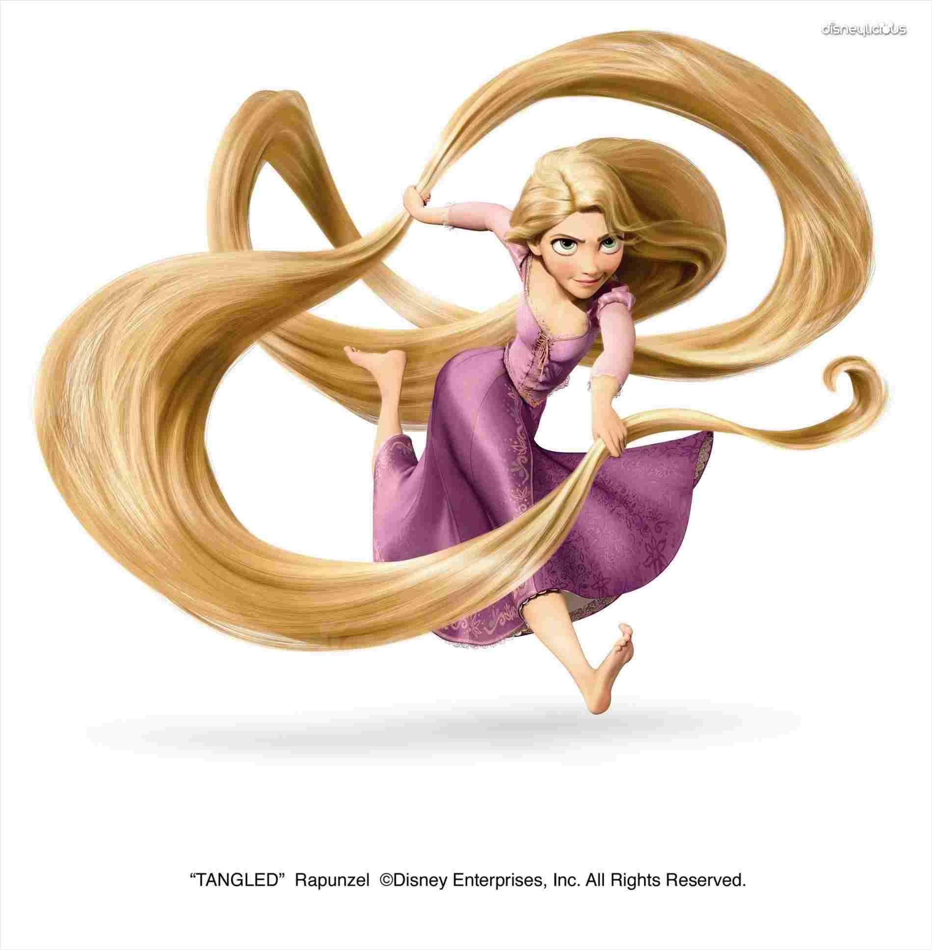 1899x1935 Rapunzel Long Hair Cartoon Cute Beautiful Princess Stock Vector