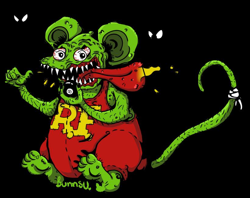 Rat Fink Vector