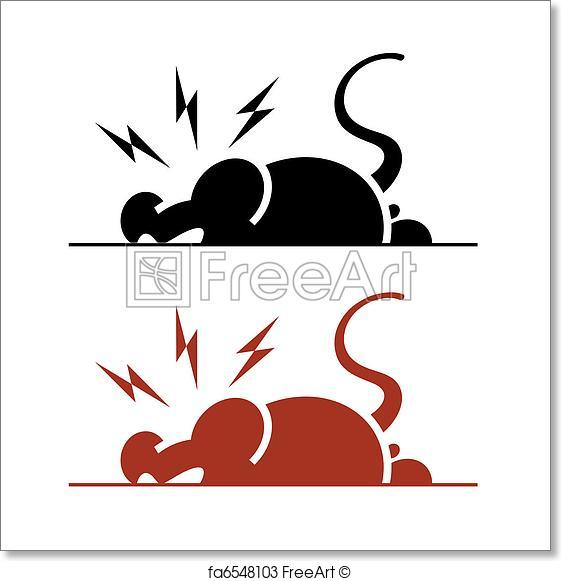 561x581 Free Art Print Of Angry Rat. Vector Icon Of Angry Rat On White