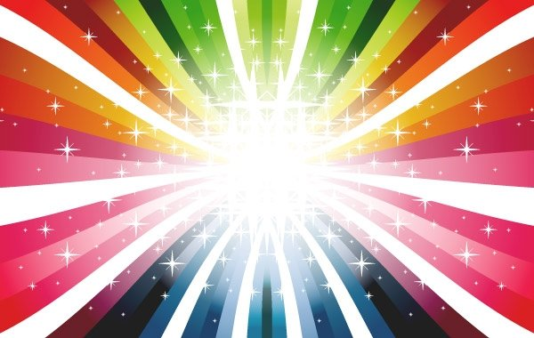 600x380 Free Colorful Rays Vector Colors Colorful Rays Psd Files, Vectors