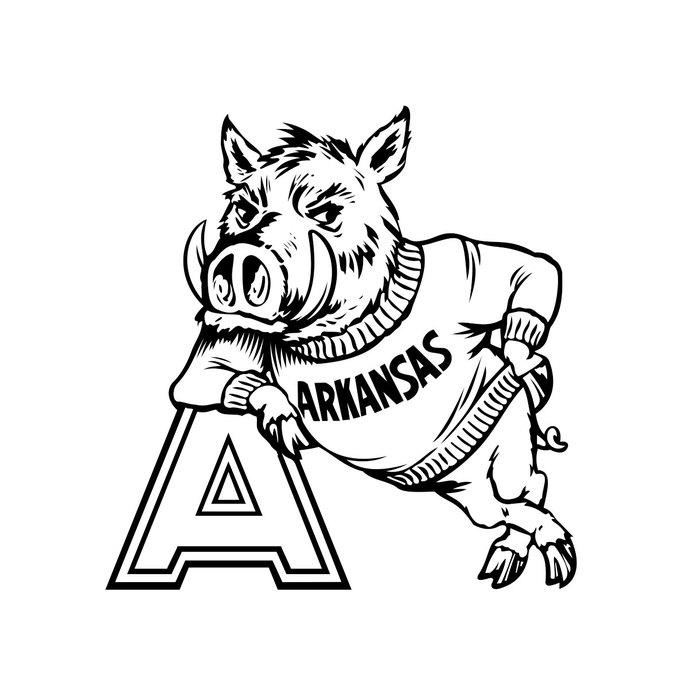 690x690 University Of Arkansas Razorback Cornhole By Vectordesign On Zibbet