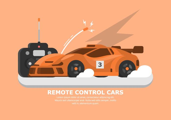 700x490 Orange Rc Car Vector