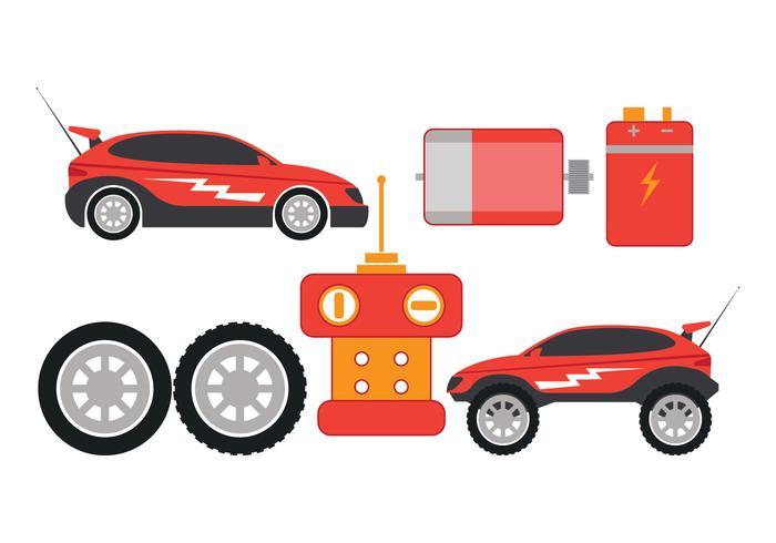 700x490 Rc Car Part Vector Icons