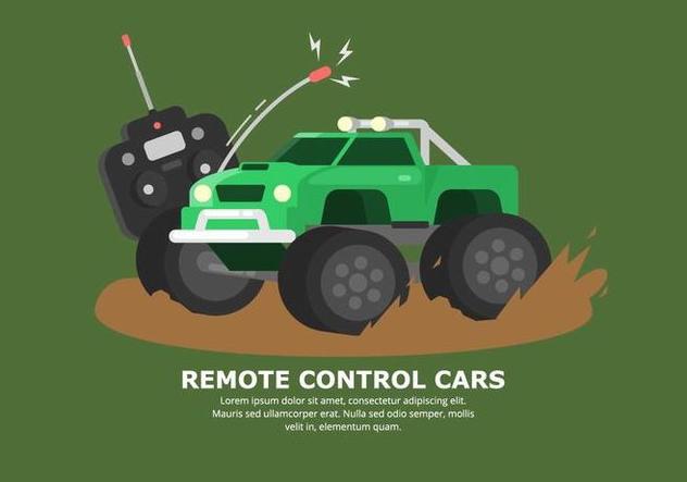 632x443 Bright Green Muddy Rc Car Vector Free Vector Download 432883