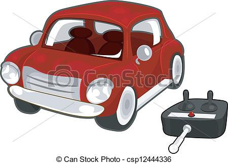 450x324 Remote Controlled Toy Car. Illustration Of A Red Toy Car With