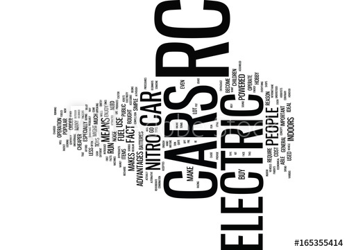 500x361 Electric Rc Car Text Background Word Cloud Concept