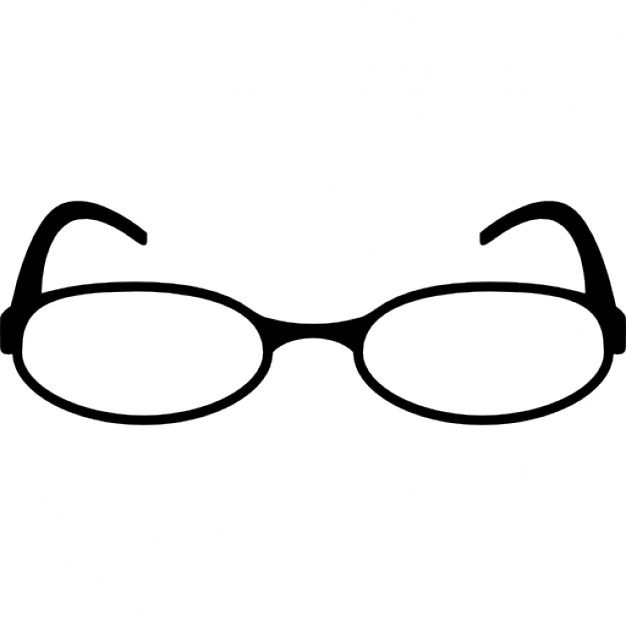 626x626 Oval Shape Reading Eyeglasses Icons Free Download