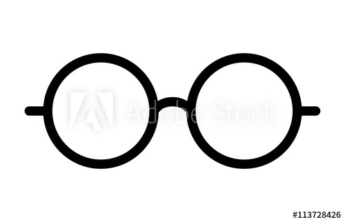 500x322 Round Glasses Or Reading Eyeglasses Line Art Icon For Apps And