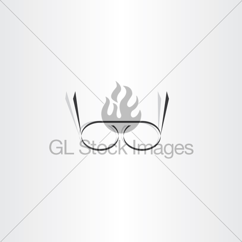 500x500 Stylized Black Reading Glasses Icon Vector Gl Stock Images