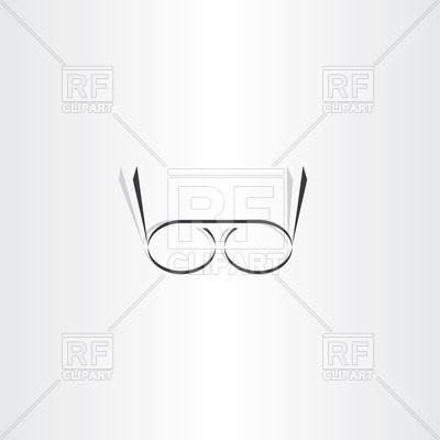 400x400 Stylized Black Reading Glasses Icon Vector Image Vector Artwork