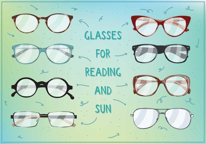 700x490 Sun And Reading Glasses Vectot
