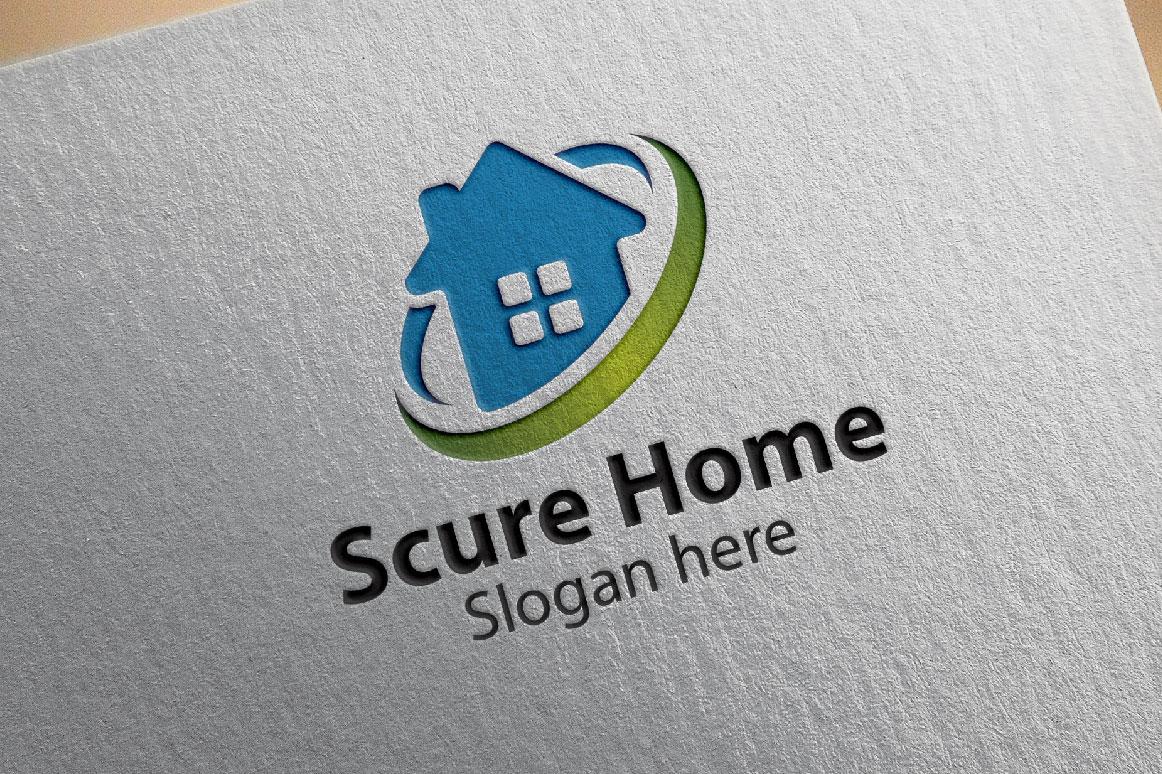 1162x774 Home Logo, Real Estate Logo, Scure Home Logo, Vector Logo Design