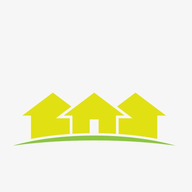 650x650 Green Real Estate Logo, Real Estate Sign, Property Logo, Housing