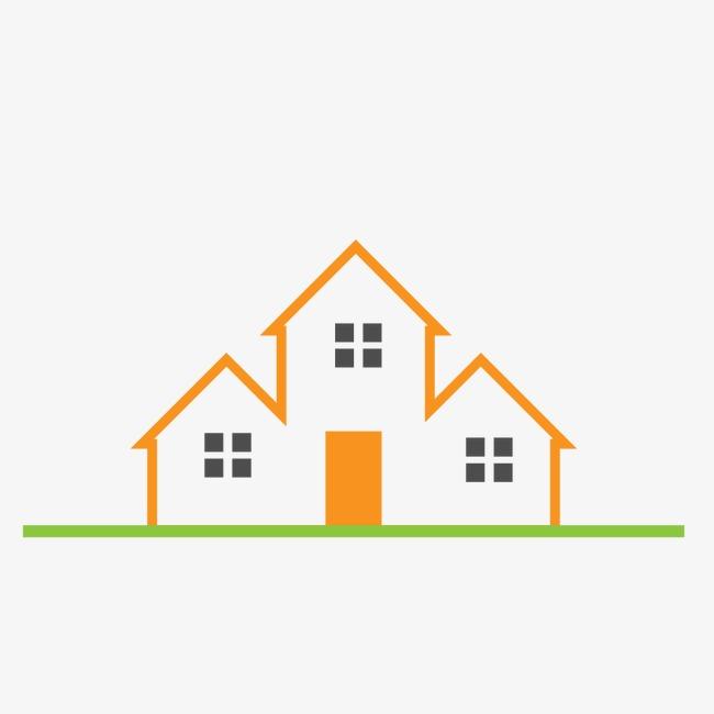 650x650 Orange Real Estate Logo, Real Estate Sign, Property Logo, Housing