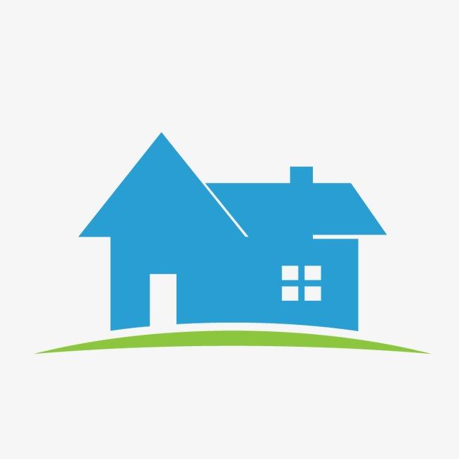 650x650 Blue Housing Estate Logo, Blue Vector, Logo Vector, Real Estate