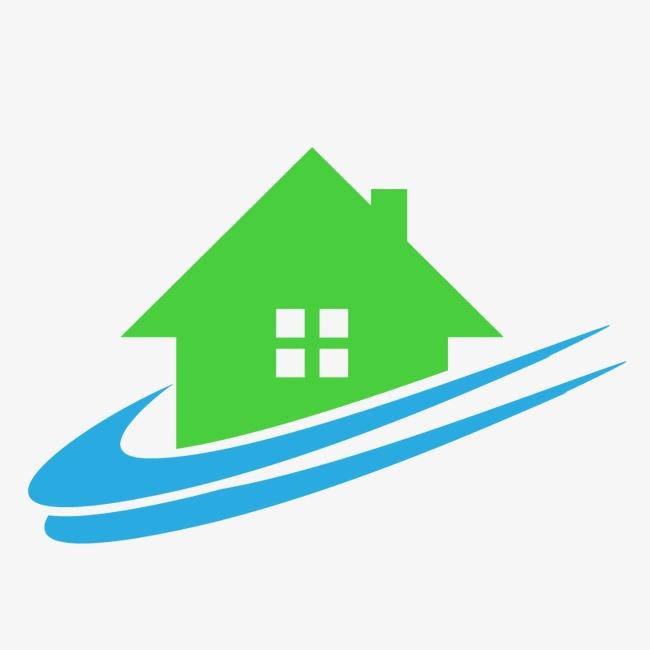 650x650 Blue Green Real Estate Logo, Real Estate Sign, Property Logo