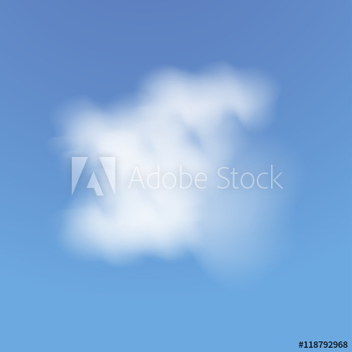 500x500 Realistic Cloud. Blue Sky With Clouds. Vector Illustration