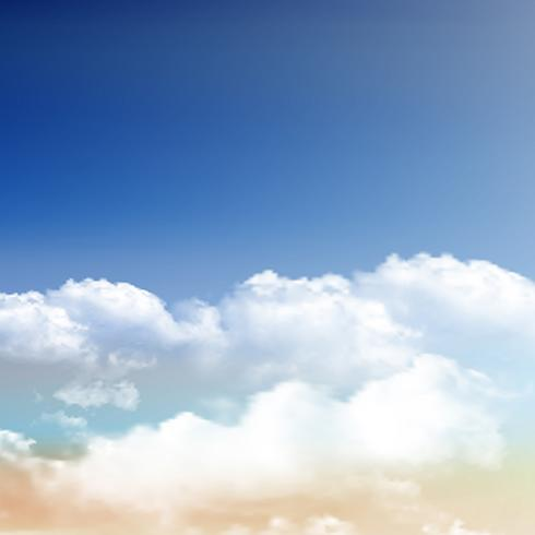 490x490 Realistic Clouds On Blue Sky Background
