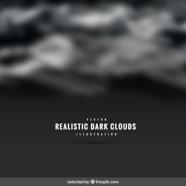 626x626 Realistic Dark Clouds Background Vector Free Download