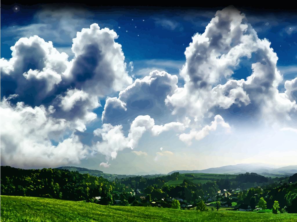 1024x768 Clouds Vector Art Amp Graphics