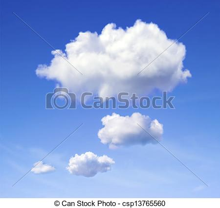 450x425 Speech Cloud. Realistic Vector Image Of Speech Cloud On Blue Sky.