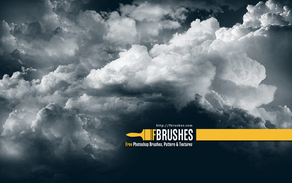 600x375 Free Vector Set Of Grunge Brushes And Set Of Cloud Brushes For