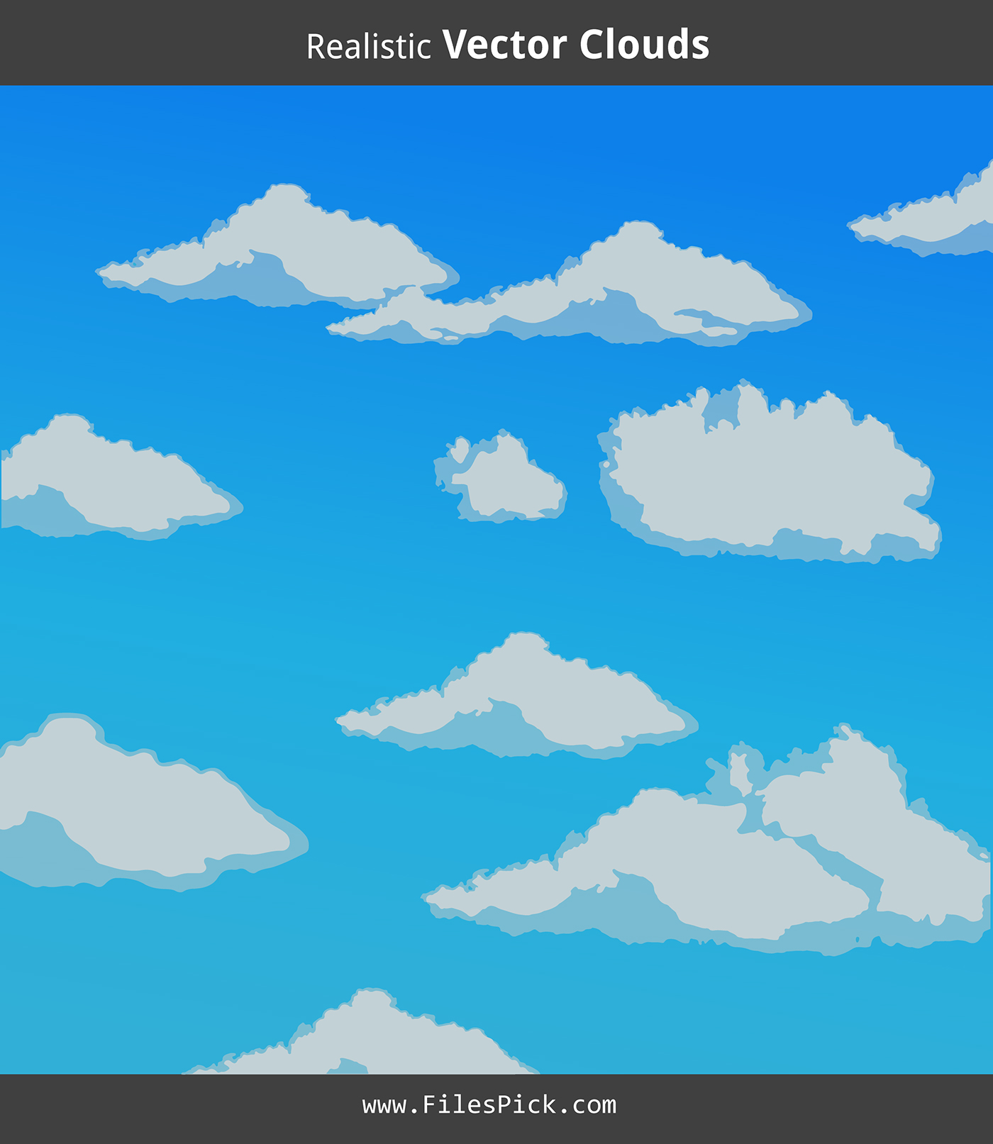 1400x1613 Realistic Clouds Vector On Behance