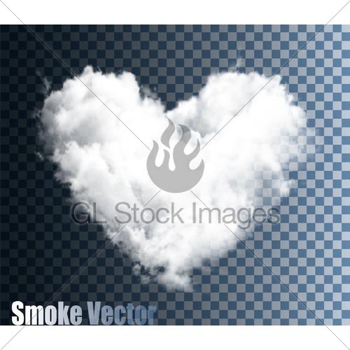 500x500 Realistic Transparent Vector Cloud Heart. Gl Stock Images
