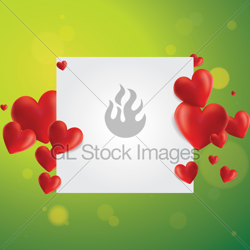 500x500 Realistic Hearts Vector Background Gl Stock Images