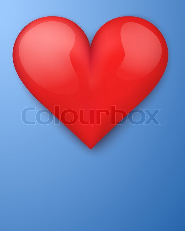 640x800 Background With Beautiful Realistic Heart. Vector Illustration