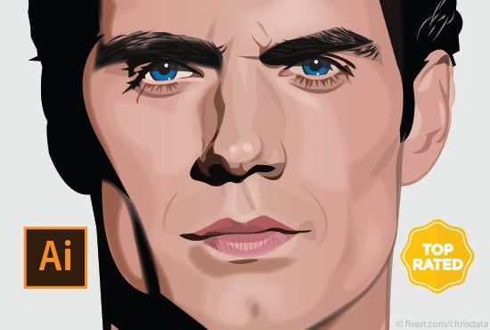 550x370 Draw The Best Vector Portrait Art On Fiverr